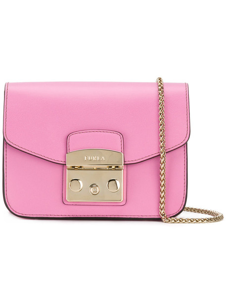 Furla women bag shoulder bag leather purple pink