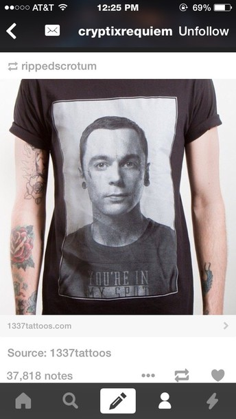 shirt sheldon cooper boyfriend