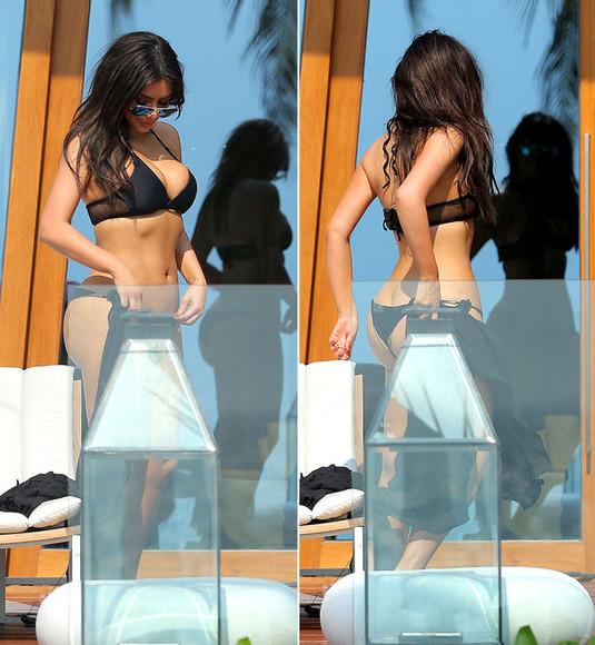 swimwear black bikini bikini kim kim kardashian