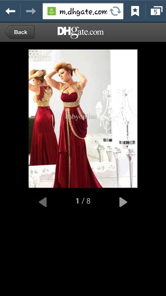 dress burgundy dress prom gown prom dress arabic style short dress beaded long dress gold dress long prom dresses gold accents beads red dress