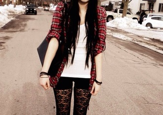 jacket pants lace leggings black grunge tumblr tumblr girl punk punk rock cardigan