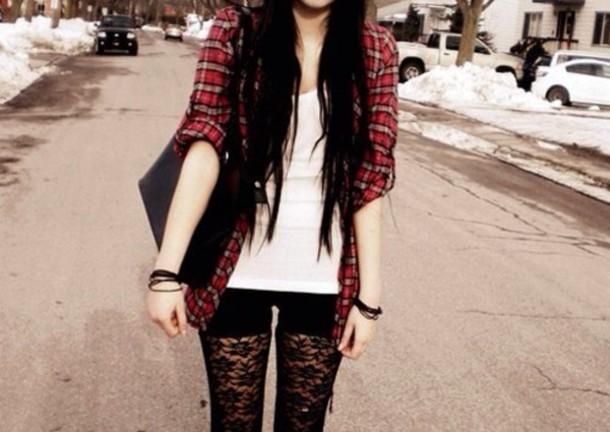 Jacket Pants Lace Leggings Black Grunge Tumblr