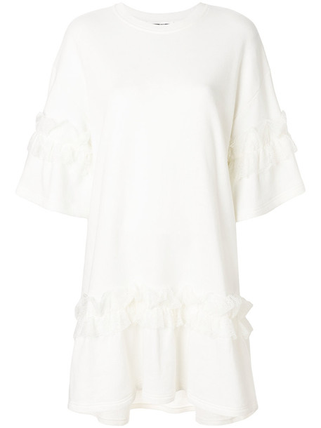 dress ruffle dress ruffle women lace white cotton