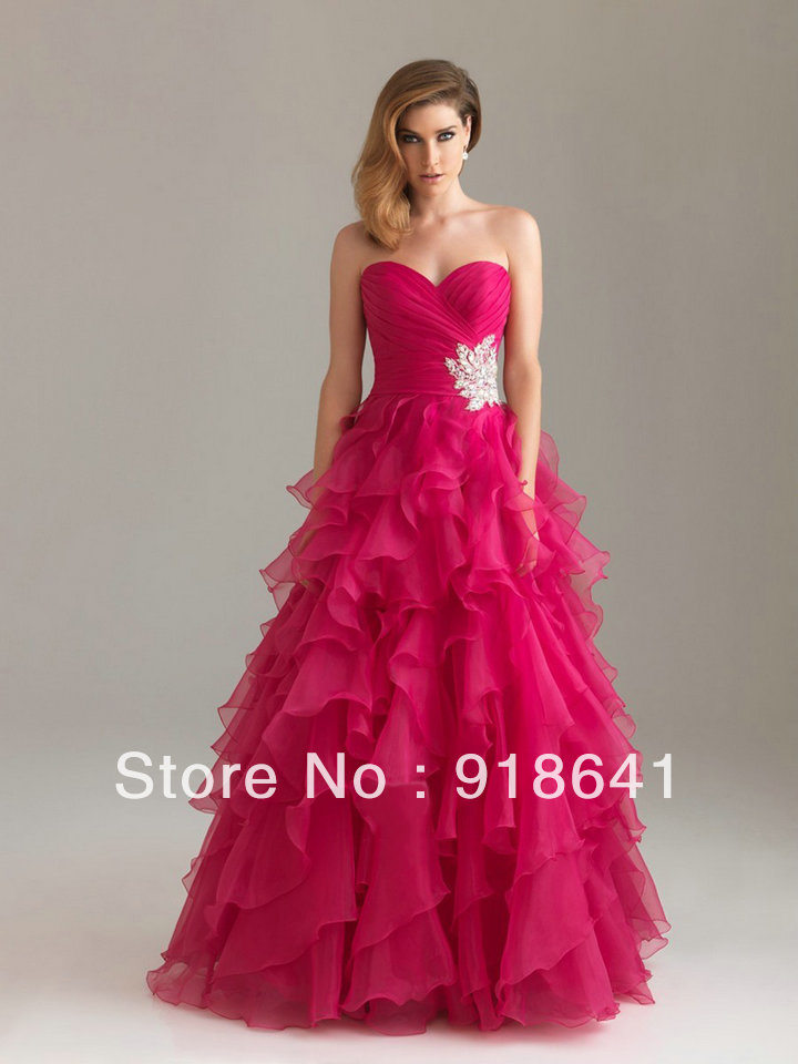 High Quality A line Swwetheart Ruffles Floor Length Quinceanera Dresses With Beaded Custom Made-in Quinceanera Dresses from Apparel & Accessories on Aliexpress.com