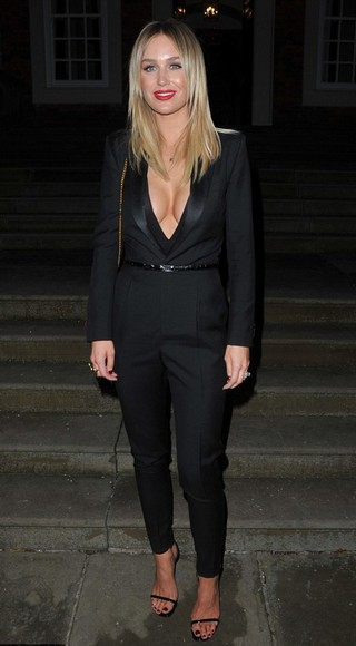 jumpsuit v-neck black alex gerrard