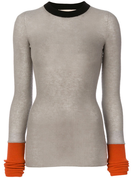 MARNI sweater women wool grey