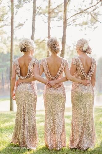 dress gold bridesmaid dress gold sequin sequin dress bridesmaid