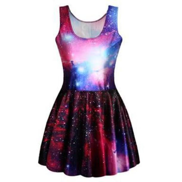 Как сделать платье космос