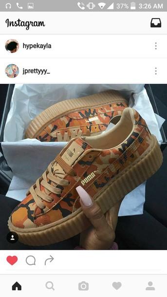 shoes multicolor pumas multicolored animal print sneakers