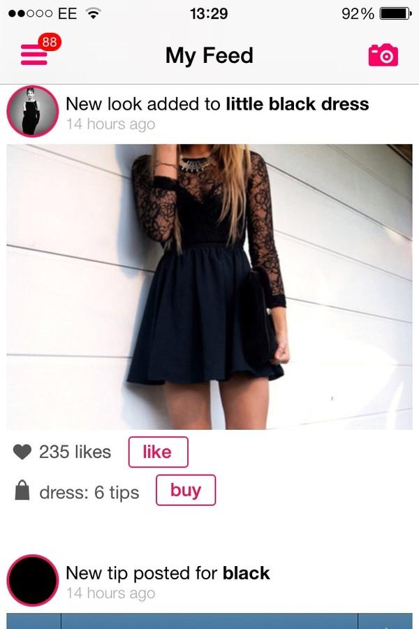 dress black dress skater black