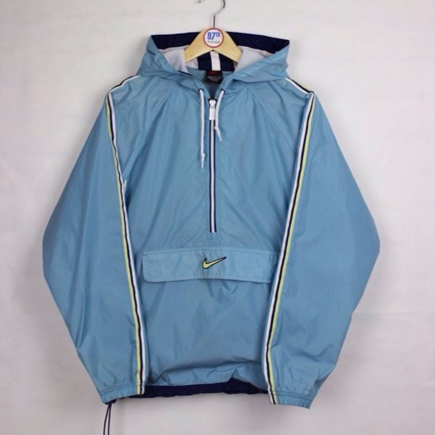 jacket nike vintage blue windbreaker nike jacket