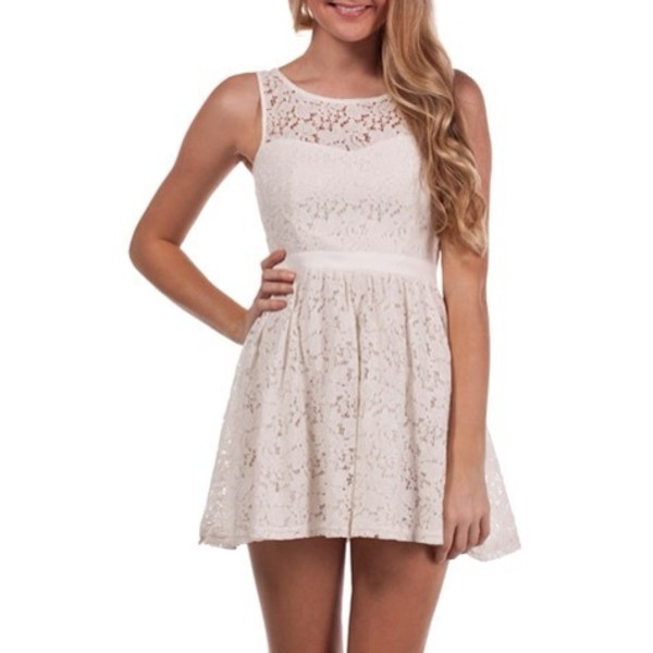 dress white dress lace dress short white lace dress party dress