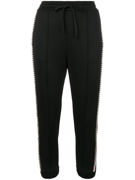 gucci pants track pants women embellished cotton black