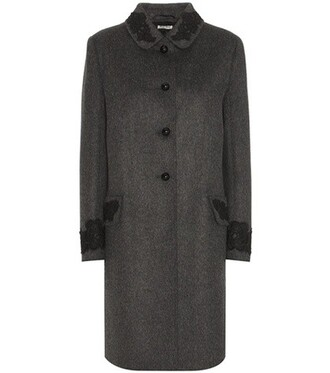 coat wool coat wool grey