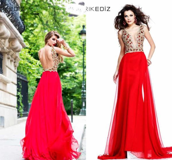v neck dress backless prom dress