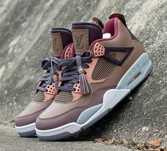shoes jordans sneakers louis vuitton brown shoes luxury air jordan bag lv sneak
