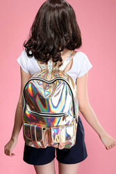 Online shop local tyrants gold hologram holographic laser faux pu leather backpack shoulder bag hot sale