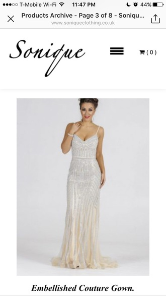 dress sequins evening dress whiteandnude prom mermaid prom dress long prom dress white mermaid dress