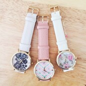 jewels,ishopcandy.com,ishopcandy,watch,floral watch,lace watch,aztec,aztec print watch,pretty,beautiful,pink,leather,white,ivory,fashion,style,ootd