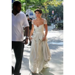 Vanessa hudgens ivory celebrity evening dress gossip girl season 3