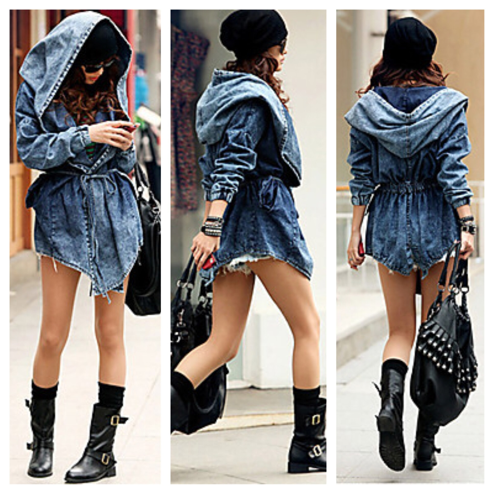 Free shipping! denim hooded wrap jacket from doublelw on storenvy