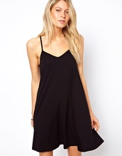dress,asos,little black dress,casual dress,casual,black,cami,cami dress