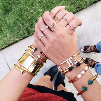 jewels bracelets cartier jewelry stacked bracelets arm candy ring