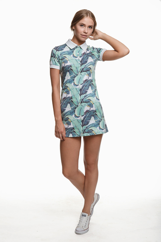 t-shirt leaves print print dress fusion summer dress