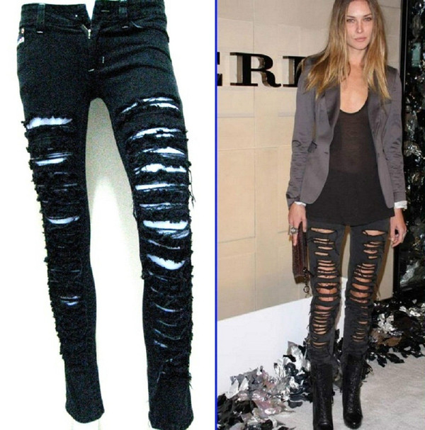 jeans black ripped jeans ripped