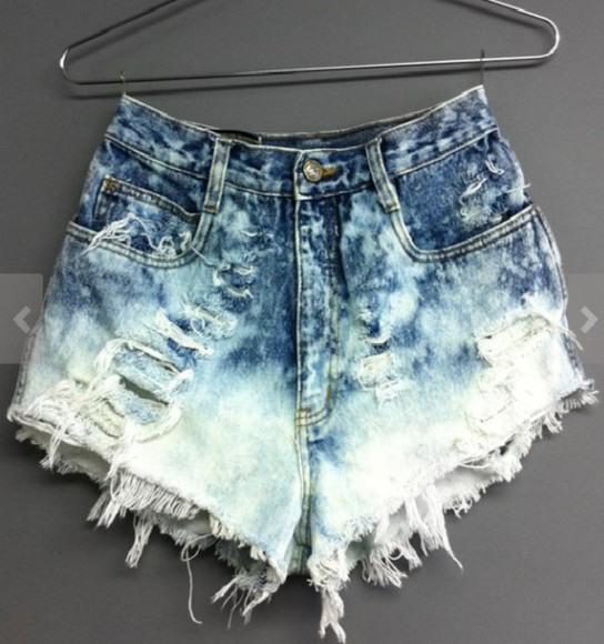 shorts High waisted shorts denim shorts denim, high waisted, shorts, blue, bows bleached shorts