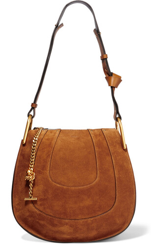 bag shoulder bag suede tan
