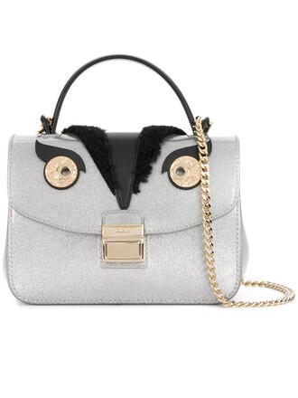 women candy bag crossbody bag leather grey