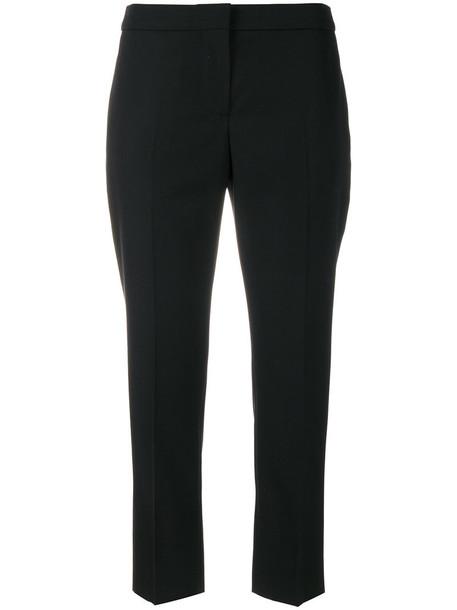 Alexander Mcqueen cropped women black wool pants