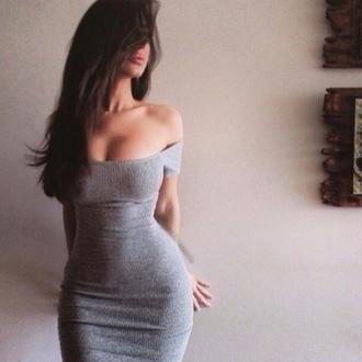 dress grey grey dress bodycon dress