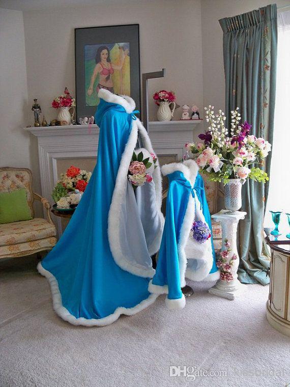 Cheap 2014 Wedding Cloak - Discount Frozen 2014 Bridal Cape Satin with Fur Trim Online with $73.3/Piece | DHgate
