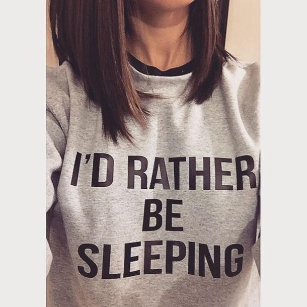 sweater sleeping sweatshirt