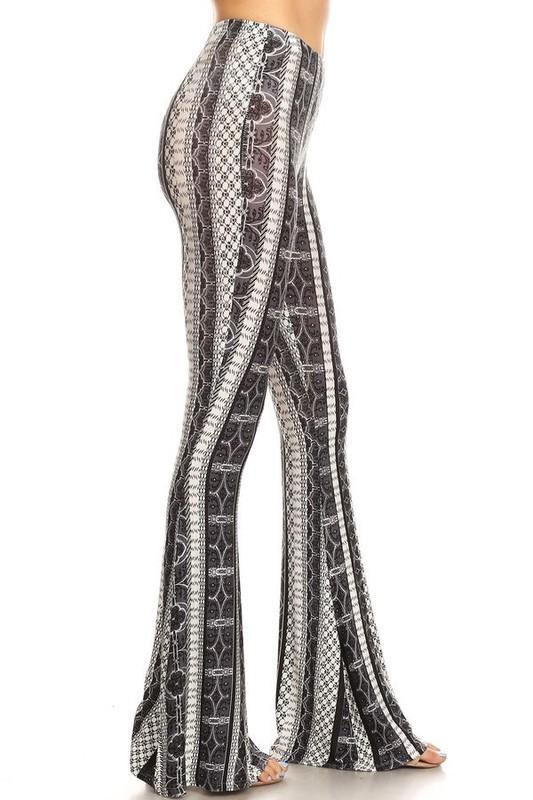 Tribal Style Flare Bottom Pants