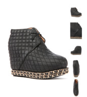 shoes,jeffrey campbell,quilted,chain,wedges