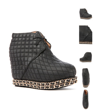 shoes jeffrey campbell quilted chain wedges