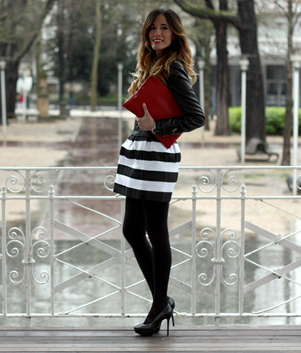 rebel attitude skirt jacket bag t-shirt jewels shoes