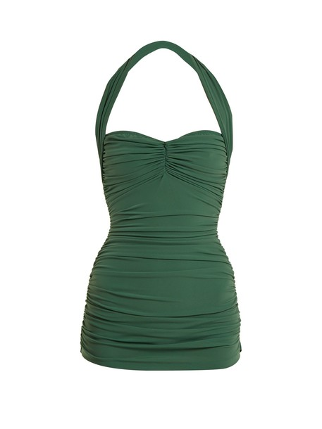 Norma Kamali green swimwear