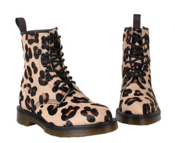 shoes dr marten boots leopard print