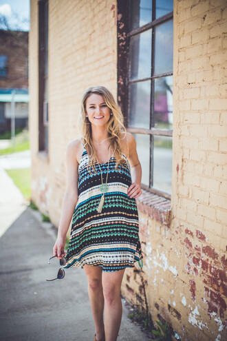 dress aztec aztec printed dress printed dress tribal pattern tribal printed summer dress summer boho festival festival style music festival entourage boutique music festival style sundress green blue