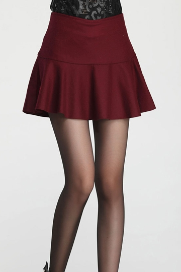 Modern Mini Frilly Skirt with Zipper [FMCC0198]- US$20.99 - PersunMall.com