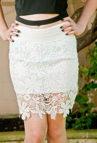 skirt white sjirt white skirt crochet skirts midi skirtss midi skirts short skirts