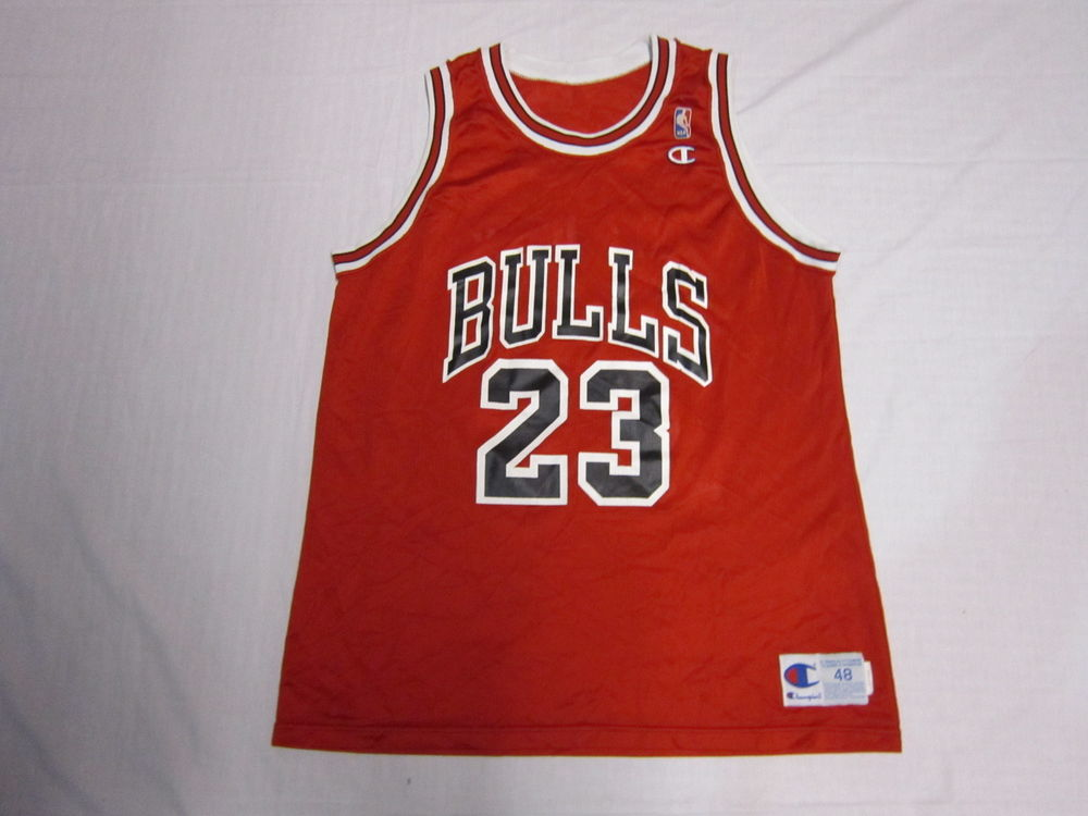 016d969cdbe Vintage Authentic Champion Chicago Bulls 23 Michael Jordan NBA ...
