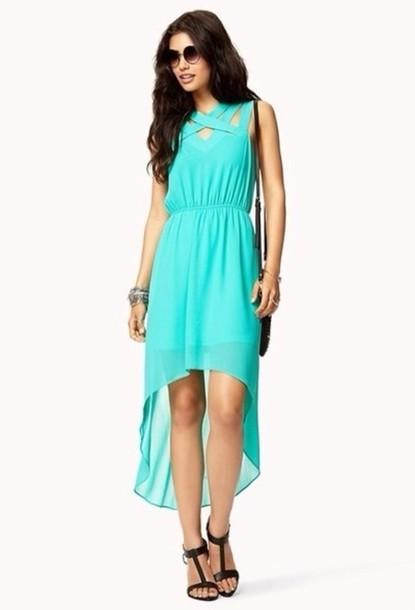 dress blue dress high-low dresses