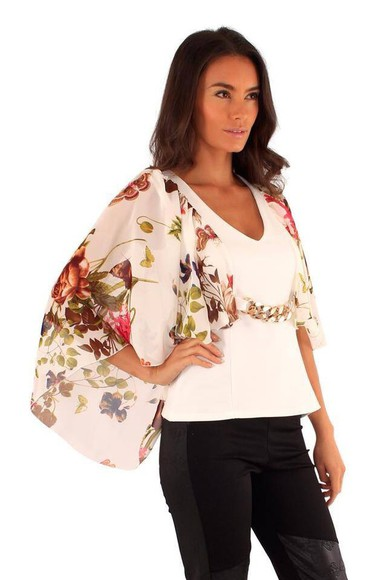 butterfly top white white top butterfly pattern floral floral gorgeous stylish want love cute summer outfits