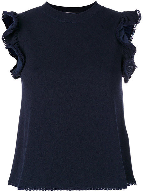 See by Chloe blouse women cotton blue top