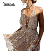 romper,dress,glitter,beige,sequence,sexy short dresses,mini dress,jewels,gold star choker necklace